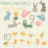 zwierząt gospodarstwa rolnego krajobraz wiele sheeeps lato Obraz Royalty Free