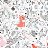 zwierząt grafiki wzór Obrazy Stock