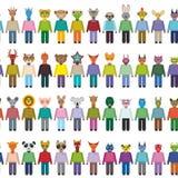 Zwierząt i potworów bezszwowy wzór na bielu Zdjęcie Stock