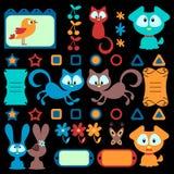 zwierząt kreskówki kolorowy set Ilustracji