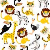 Zwierzęta Africa wzór Obrazy Stock