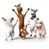 Zwierzęta Gospodarskie charakter Zdjęcia Royalty Free