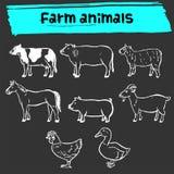 Zwierzęta gospodarskie doodle ikona Obrazy Stock