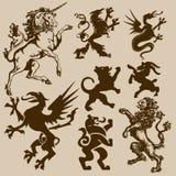 zwierzęta heraldyczni royalty ilustracja