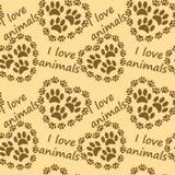 zwierzęta ja kocham wzór Zdjęcie Royalty Free