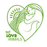 Zwierzęca ochrona Kochamy zwierzęta Zdjęcia Royalty Free