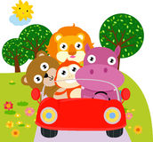 zwierzęcy samochód Zdjęcia Stock