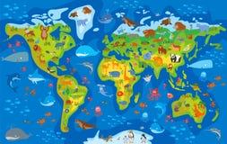 Zwierzęcy świat postać z kreskówki śmieszne Obraz Royalty Free