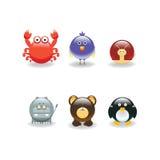 zwierząt 4 ikony Obrazy Stock