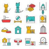 Zwierzęta domowe Wykładają set Zdjęcie Stock