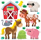Zwierzęta gospodarskie ustawiają 2 Obraz Royalty Free