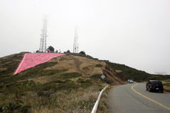 Zwilling ragt rosa Dreieck empor Lizenzfreie Stockfotografie