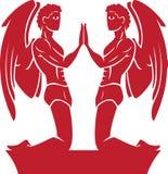 Zwilling-Tierkreis/Horoskop-Symbol Stockfotos
