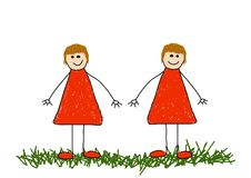 Zwillinge Lizenzfreies Stockbild
