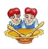 Zwillinge Stockfoto