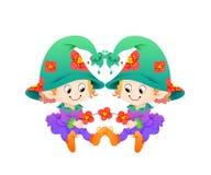 Zwillinge oder Tierkreis der Zwilling-zwölf Lizenzfreies Stockfoto