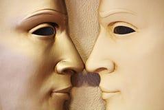 Zwillinge - venetianische Schablone, Italien lizenzfreies stockfoto