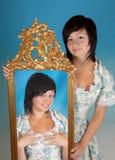 Zwillingfrau Lizenzfreies Stockbild