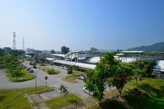 Zwillings-Bahnstation Tanjong Malim Stockfotos