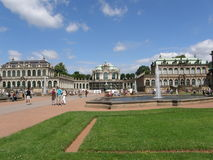Zwinger宫殿在德累斯顿,萨克森,德国 库存照片