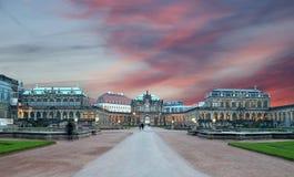 Zwinger宫殿(Der Dresdner Zwinger)在德累斯顿,德国 免版税库存照片