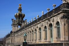 Zwinger в Дрездене, Саксонии стоковое фото rf