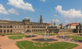 Изумительный городок Дрездена старый стоковые изображения rf