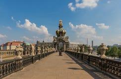 Изумительный городок Дрездена старый стоковая фотография