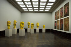 Zwinger Art Gallery  - G. Baselitz exhibition Royalty Free Stock Images