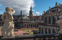 The Zwinger Courtyard in Dresden Germany. As you wander the cobblestone streets of Dresden, Germany, you'll see a diverse blend of new and old—with royalty free stock photos