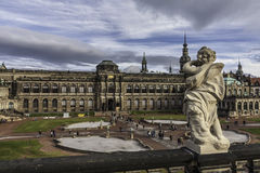 Zwinger of Dresden in Germany. Inner yard. Extremely warm winter Stock Images