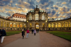 Zwinger in Dresden on sunset,Germany Stock Images