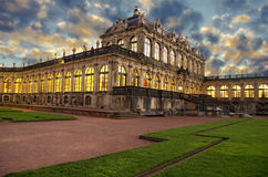 Zwinger in Dresden on sunset,Germany Royalty Free Stock Photography