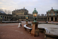 Zwinger in Dresden. Winter evening Royalty Free Stock Photography