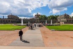 Zwinger (Dresdner Zwinger) дворец в Дрездене Стоковые Фотографии RF