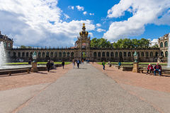 The Zwinger (Dresdner Zwinger) is a palace in Dresden Royalty Free Stock Image