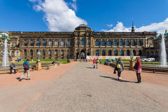 The Zwinger (Dresdner Zwinger) is a palace in Dresden, in Rococo style was built from the 17th to 19th centuries. Stock Photos