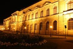 Zwinger en Dresden en la noche Fotos de archivo libres de regalías