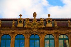 Zwinger galeria sztuki i muzeum w Drezdeńskim, Saxony Niemcy obrazy royalty free