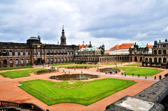 Zwinger galley - museum in Dresden. Zwinger palace in Dresden - Germany, great lawns Royalty Free Stock Images