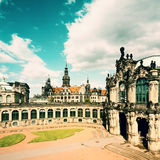 Zwinger and Hofkirche in Dresden, retro effect Royalty Free Stock Photography