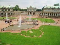 Zwinger komplexa barocka byggnader Fotografering för Bildbyråer