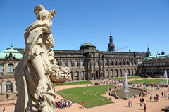 Zwinger Museum. In Dresden, Germany royalty free stock photos