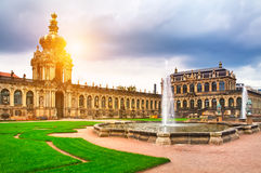 Zwinger museum in Dresden Stock Photo
