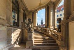 Zwinger museum Dresden, Tyskland Royaltyfria Foton