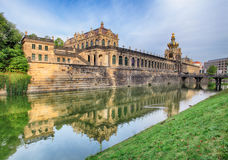 Zwinger museum - famous monument in Dresden Royalty Free Stock Photo