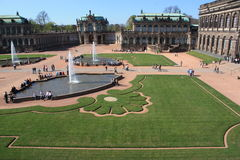 Zwinger Museum and garden Dresden, Germany Royalty Free Stock Images