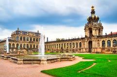 Zwinger museum i Dresden Arkivbild
