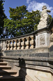 Zwinger Nymphs Bath Pavilion stairs from Dresden in Germany Stock Photos