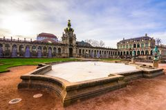 Zwinger palace, art gallery and museum in Dresden, Germany. Zwinger palace, art gallery and museum in Dresden, Germany on February 20, 2018 Stock Photo